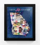 Atlanta Braves State of Mind Framed Print - Georgia