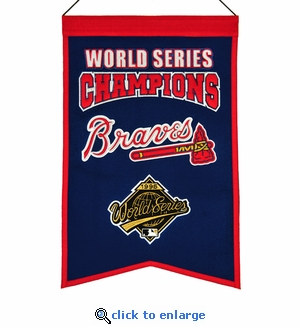 Atlanta Braves World Series Champions Wool Banner (14 x 22)