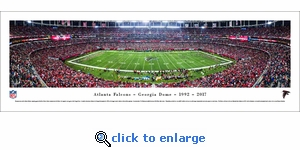 Atlanta Falcons - Final Game at Georgia Dome - Panoramic Photo (13.5 x 40)