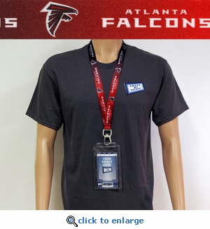 Atlanta Falcons Lanyard Key Chain Ticket Holder