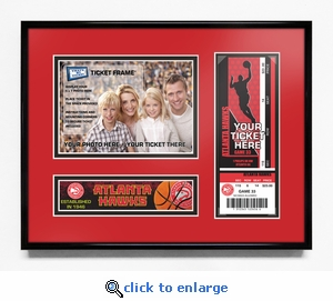 Atlanta Hawks 5x7 Photo Ticket Frame