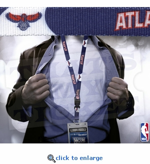 Atlanta Hawks NBA Lanyard with Ticket Holder - Blue & White