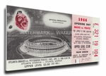 Atlanta Braves 1966 Opening Day / First Game at Atlanta Stadium Canvas Mega Ticket