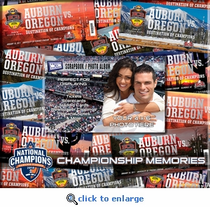 Auburn Tigers BCS Championship 8 x 8 Scrapbook - Ticket & Photo Album