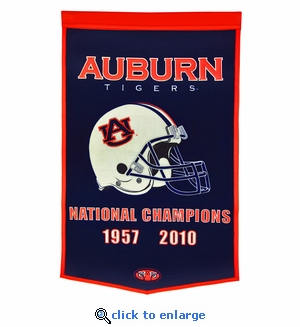 Auburn Tigers National Champions Dynasty Wool Banner (24 X 36)