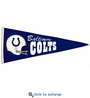 Baltimore Colts Throwback Wool Pennant (13 x 32)