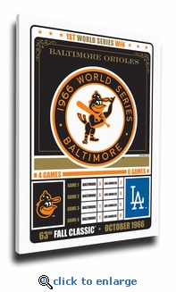 Baltimore Orioles 1966 World Series Champions Canvas Print