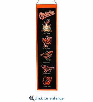 Baltimore Orioles Heritage Wool Banner (8 x 32)