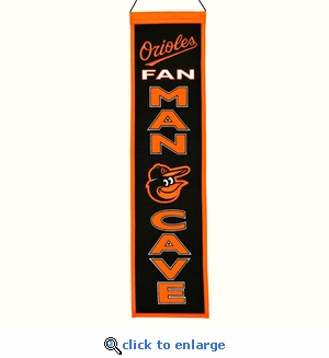 Baltimore Orioles Man Cave Wool Banner (8 x 32)