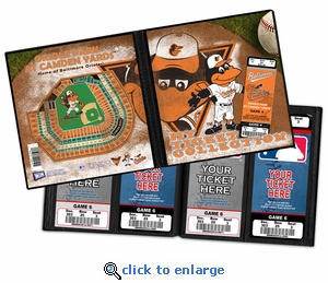 Baltimore Orioles Mascot Ticket Album - The Oriole Bird
