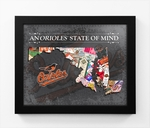 Baltimore Orioles State of Mind Framed Print - Maryland