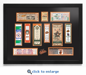 Baltimore Orioles Tickets to History Framed Print