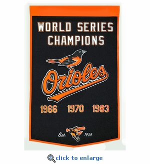 Baltimore Orioles World Series Dynasty Wool Banner (24 x 36)