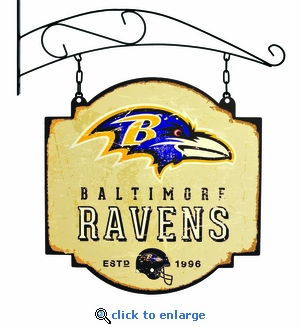 Baltimore Ravens 16 X 16 Metal Tavern / Pub Sign