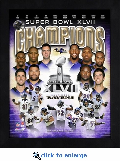 Baltimore Ravens Framed Super Bowl 47 Champs Composite