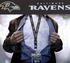 Baltimore Ravens NFL Lanyard Key Chain and Ticket Holder - Black
