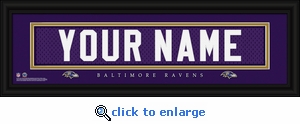 Baltimore Ravens Personalized Stitched Jersey Nameplate Framed Print