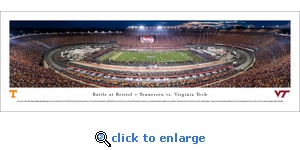 Battle at Bristol - Tennessee vs Virginia Tech Football - Panoramic Photo (13.5 x 40)