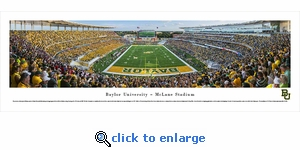 Baylor Bears Football - End Zone - Panoramic Photo (13.5 x 40)