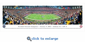 BCS 2012 National Football Champions - Alabama - Panoramic Photo (13.5 x 40)