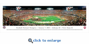 BCS 2013 National Football Champions - Alabama - Panoramic Photo (13.5 x 40)