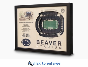 Beaver Stadium 3-D Wall Art - Penn State Nittany Lions Football