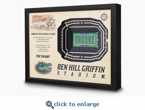 Ben Hill Griffin Stadium 3-D Wall Art - Florida Gators Football