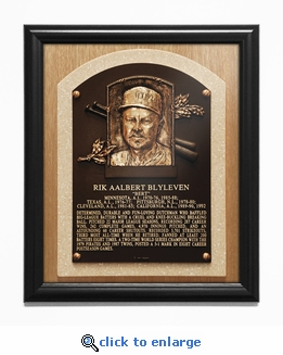 Bert Blyleven Baseball Hall of Fame Plaque Framed Print - Minnesota Twins