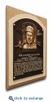 Bert Blyleven Baseball Hall of Fame Plaque on Canvas - Minnesota Twins