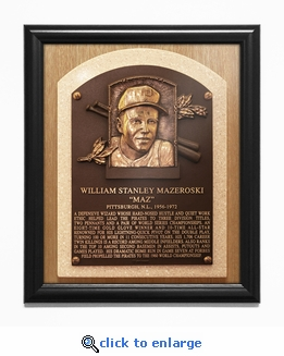 Bill Mazeroski Baseball Hall of Fame Plaque Framed Print - Pittsburgh Pirates
