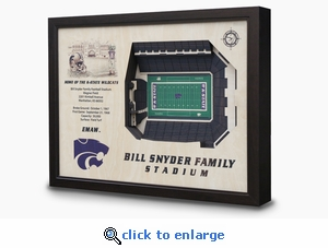 Bill Snyder Family Stadium 3-D Wall Art - Kansas State Wildcats Football