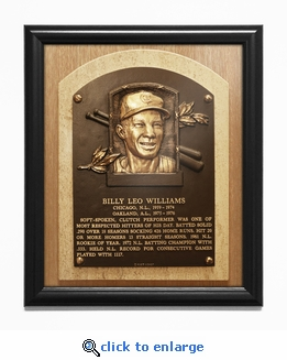 Billy Williams Baseball Hall of Fame Plaque Framed Print - Chicago Cubs