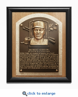 Bob Gibson Baseball Hall of Fame Plaque Framed Print - St Louis Cardinals