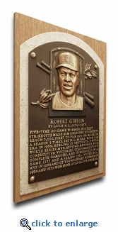 Bob Gibson Baseball Hall of Fame Plaque on Canvas - St Louis Cardinals