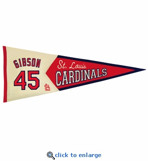 Bob Gibson Legends Wool Pennant 13x 32 - St Louis Cardinals