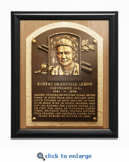 Bob Lemon Baseball Hall of Fame Plaque Framed Print - Cleveland Indians