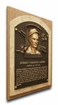 Bobby Doerr Baseball Hall of Fame Plaque on Canvas - Boston Red Sox