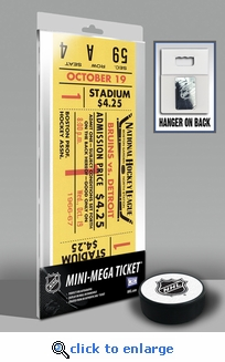 Bobby Orr's First Game NHL Mini-Mega Ticket - Boston Bruins