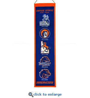 Boise State Broncos Heritage Wool Banner (8 x 32)