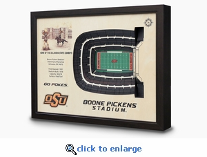 Boone Pickens Stadium 3-D Wall Art - Oklahoma State Cowboys Football