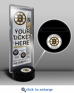 Boston Bruins My First Game Hockey Puck Ticket Stand