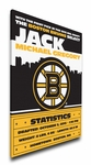 Boston Bruins Personalized Canvas Birth Announcement - Baby Gift