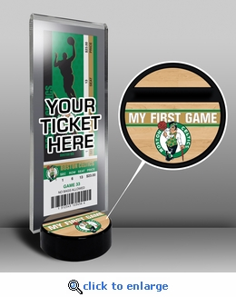 Boston Celtics My First Game Ticket Display Stand