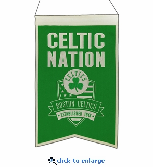Boston Celtics Nations Wool Banner (14 x 22)