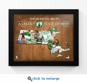 Boston Celtics Personalized State of Mind Framed Print - Massachusetts