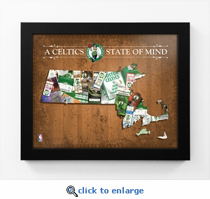 Boston Celtics State of Mind Framed Print - Massachusetts