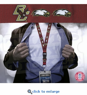 Boston College Eagles NCAA Lanyard Key Chain and Ticket Holder