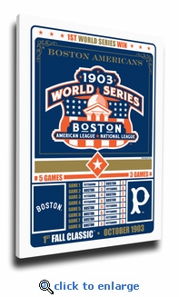 Boston Red Sox 1903 World Series Champions Vintage Canvas Print