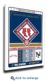 Boston Red Sox 1912 World Series Champions Canvas Print
