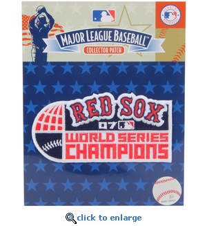 Boston Red Sox 2007 World Series Champions Commemorative Embroidered Patch